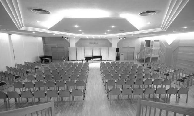 """Fotografischer Eindruck der Musikspielstätte """"Yamaha Concert Hall"""""""
